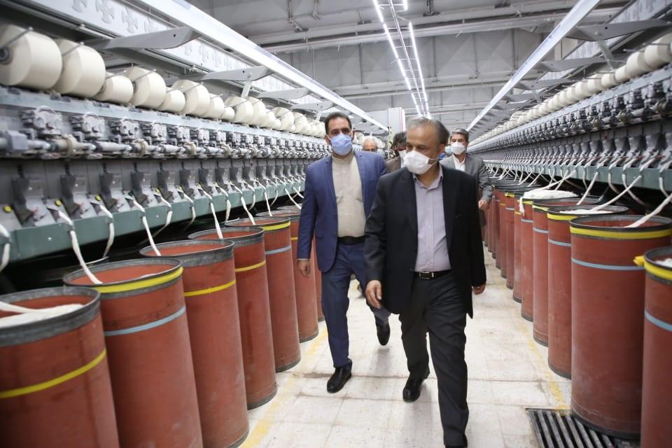 بازدید وزیر صمت از کارخانه نساجی خوی