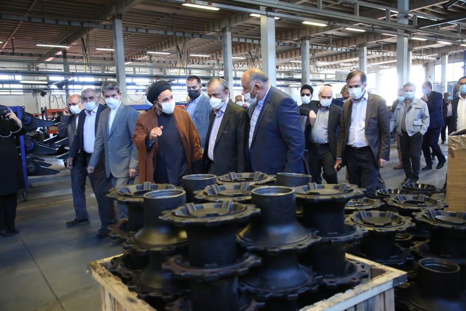 بازدید وزیر صمت از کارخانه مارال صنعت