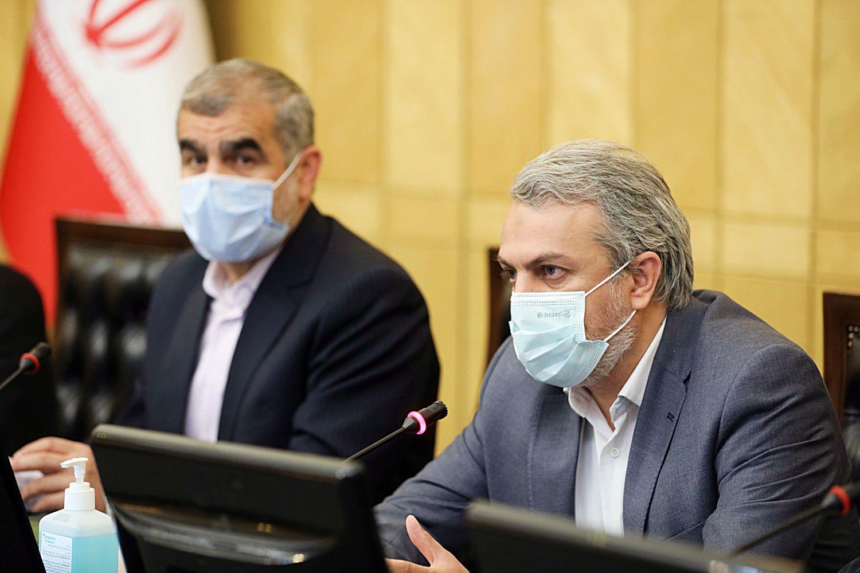 نشست نایب رئیس مجلس و جمعی از نمایندگان با وزیر صمت