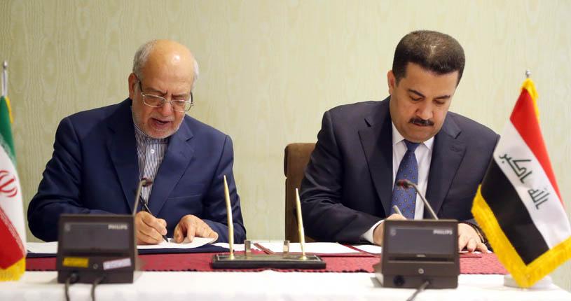 امضاء تفاهم نامه همکاری دو کشور ایران و عراق در زمینه ایجاد شهرک های صنعتی و بازسازی صنایع