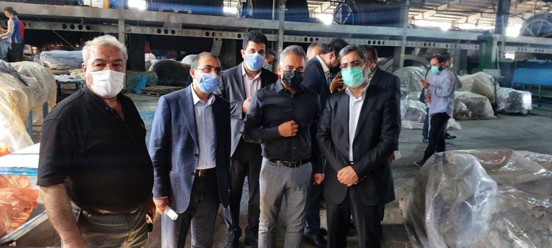 بازدید معاون وزیر صمت از شهرکهای صنعتی چرمشهر و سالاریه